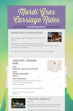 Mardi Gras Carriage Rides