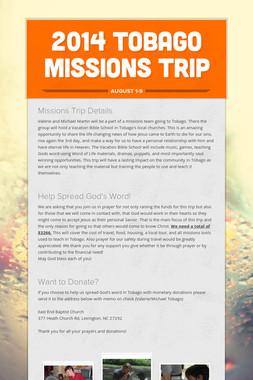 2014 Tobago Missions Trip