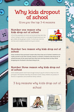 Why  kids dropout of school