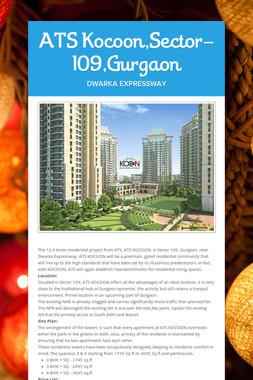 ATS Kocoon,Sector-109,Gurgaon