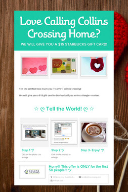 Love Calling Collins Crossing Home?