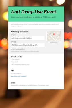 Anti Drug-Use Event