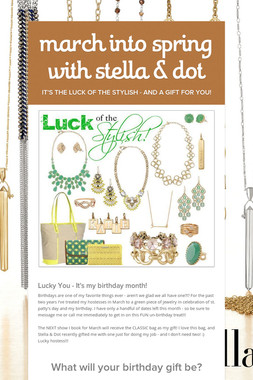 march into spring with stella & dot