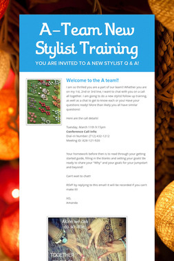 A-Team New Stylist Training