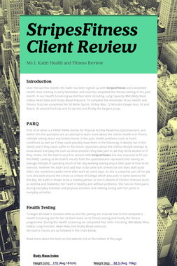 StripesFitness Client Review