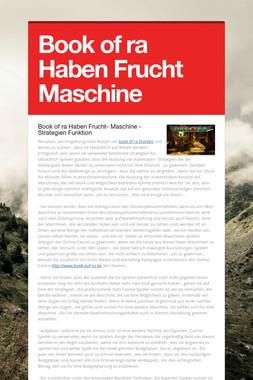 Book of ra Haben Frucht Maschine