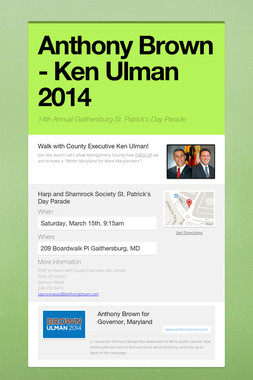Anthony Brown - Ken Ulman 2014