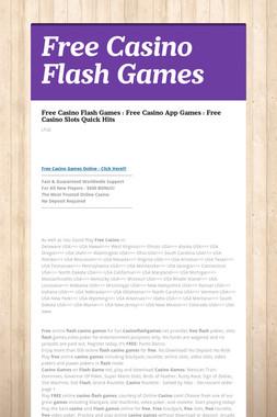 Free Casino Flash Games