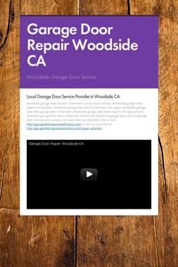Garage Door Repair Woodside CA