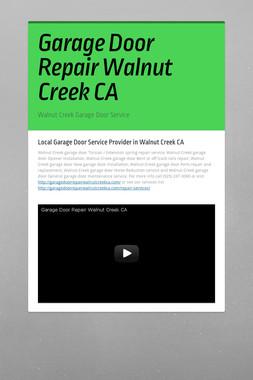 Garage Door Repair Walnut Creek CA