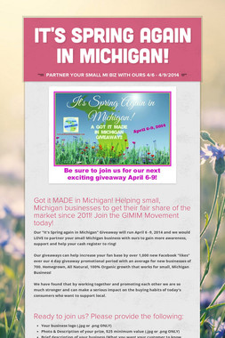 It's SPRING again in MICHIGAN!