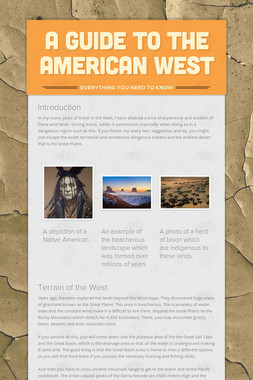 A Guide to the American West