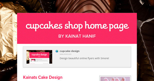 cupcakes shop  home page