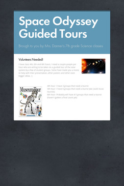Space Odyssey Guided Tours