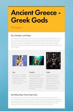 Ancient Greece - Greek Gods