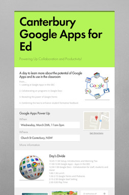 Canterbury Google Apps for Ed
