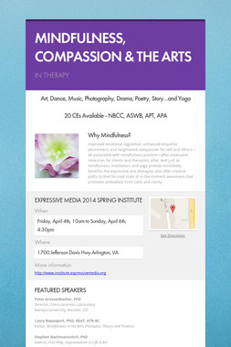 MINDFULNESS, COMPASSION & THE ARTS