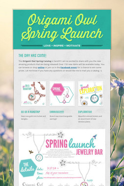 Origami Owl Spring Launch