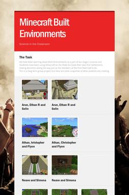 Minecraft Built Environments