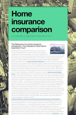 Home insurance comparison