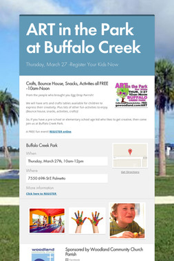 ART in the Park at Buffalo Creek