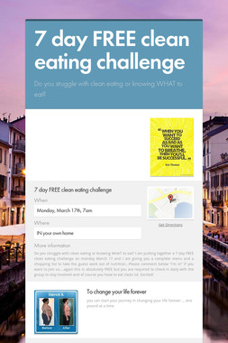 7 day FREE clean eating challenge