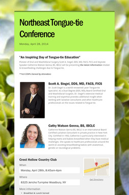 Northeast Tongue-tie Conference