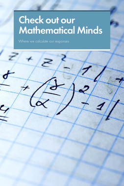 Check out our Mathematical Minds