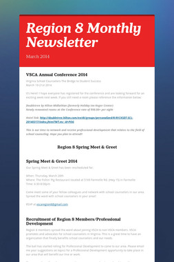 Region 8 Monthly Newsletter