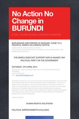 No Action No Change in BURUNDI