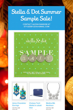 Stella & Dot Sample Sale!