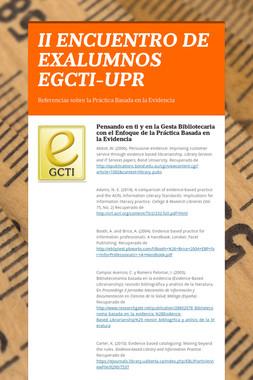 II ENCUENTRO DE EXALUMNOS EGCTI-UPR