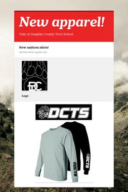 New apparel!