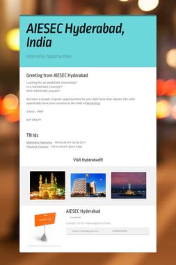 AIESEC Hyderabad, India