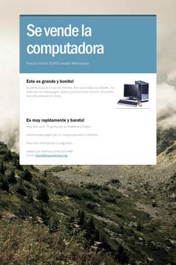 Se vende la computadora