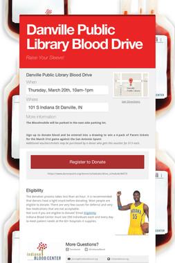 Danville Public Library Blood Drive