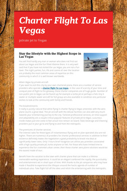 Charter Flight To Las Vegas