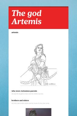 The god Artemis