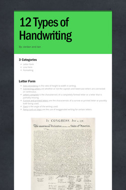 12 Types of Handwriting