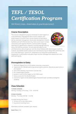 TEFL / TESOL Certification Program
