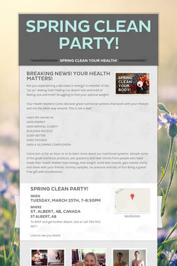 SPRING CLEAN PARTY!
