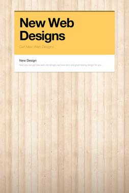 New Web Designs