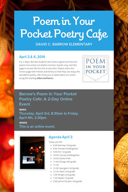 Poem in Your Pocket Poetry Cafe