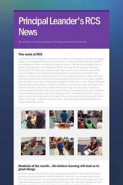 Principal Leander's RCS News