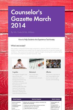 Counselor's Gazette  March 2014