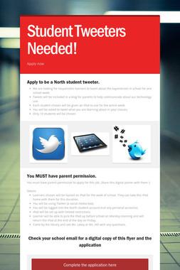 Student Tweeters Needed!