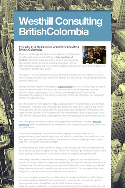 Westhill Consulting BritishColombia