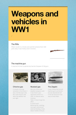 Weapons and vehicles in WW1