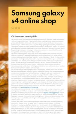 Samsung galaxy s4 online shop