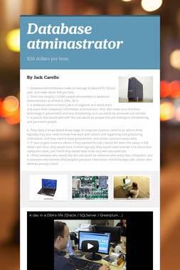 Database atminastrator